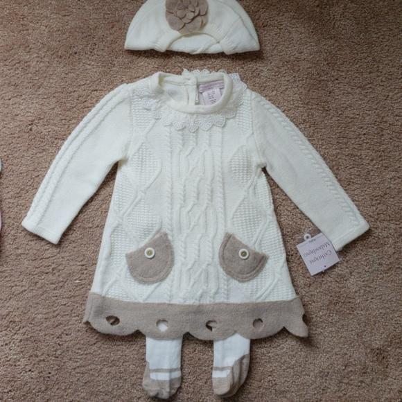 14f52ca88 Catherine Malandrino Dresses | 3piece Adorable Baby Girl Sweater ...